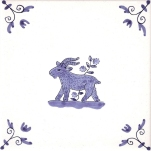 Delft Animal tile 25