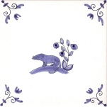 Delft Animal tile 26