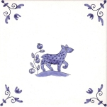 Delft Animal tile 28