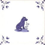 Delft Animal tile 29