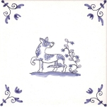 Delft Animal tile 3
