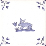 Delft Animal tile 4