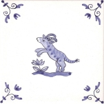Delft Animal tile 5
