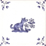Delft Animal tile 6