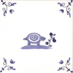 Delft Animal tile 8