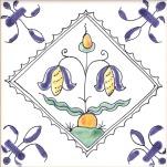 Delft flower tile 1