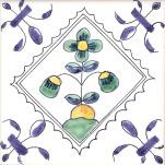 Delft flower tile 10