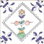 Delft flower tile 11