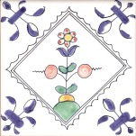 Delft flower tile 11