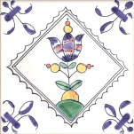 Delft flower tile 12