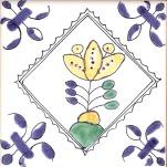 Delft flower tile 14