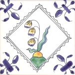 Delft flower tile 15