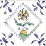 Delft flower tile 16