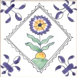 Delft flower tile 17