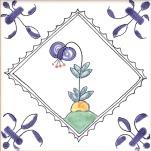 Delft flower tile 18