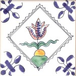 Delft flower tile 19