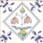Delft flower tile 2
