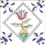 Delft flower tile 23