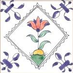 Delft flower tile 24