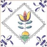 Delft flower tile 25