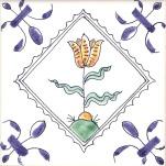 Delft flower tile 3