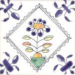 Delft flower tile 4