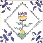Delft flower tile 5