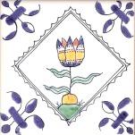 Delft flower tile 5