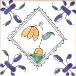 Delft flower tile 6