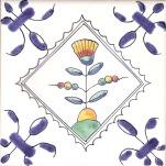 Delft flower tile 7