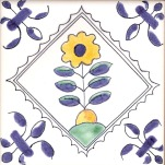 Delft flower tile 8