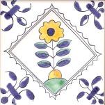Delft flower tile 8
