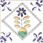 Delft flower tile 9