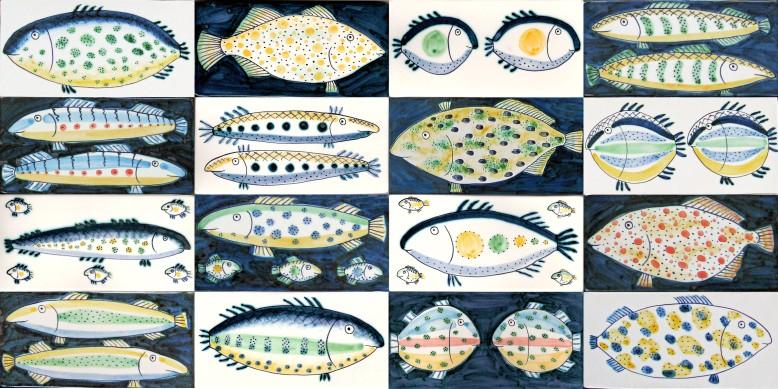 Fish border tiles