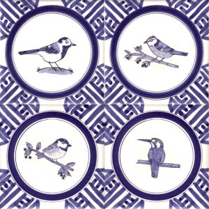 Delft Garden Bird tiles