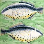 Large fish tile 2