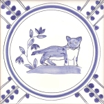 19 Stoat tile