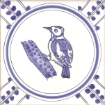 14 Woodpecker tile