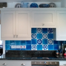 Urchin tiles in situ