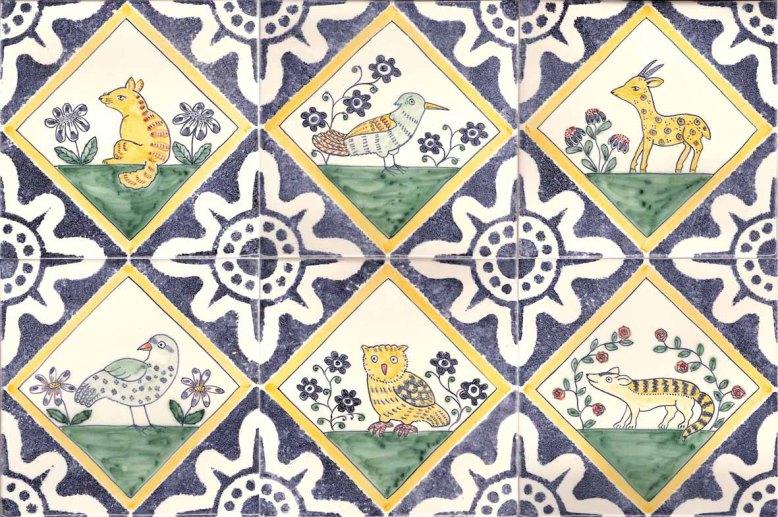 6 medieval animal tiles