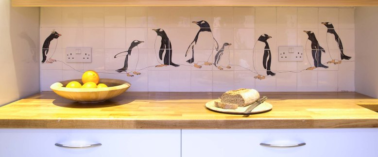 Gentoo penguin tile panel
