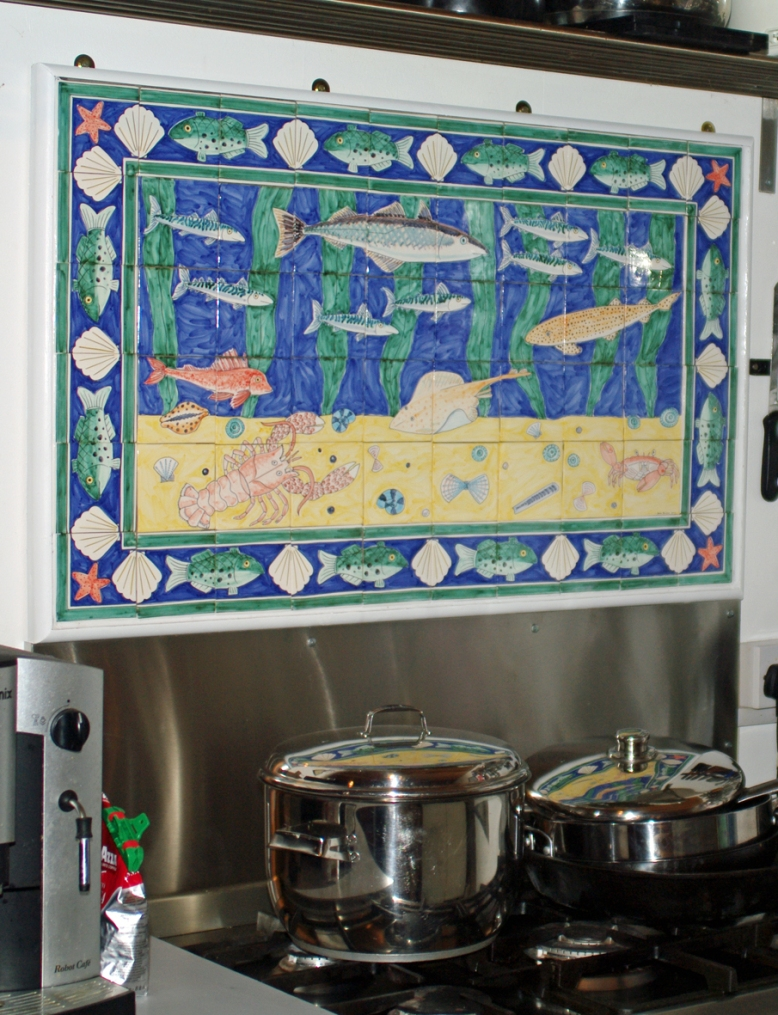 fish tile panel in situ