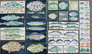 Fish tiles for Custom House