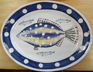 Large fishy platter