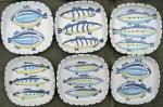 Square fish dishes