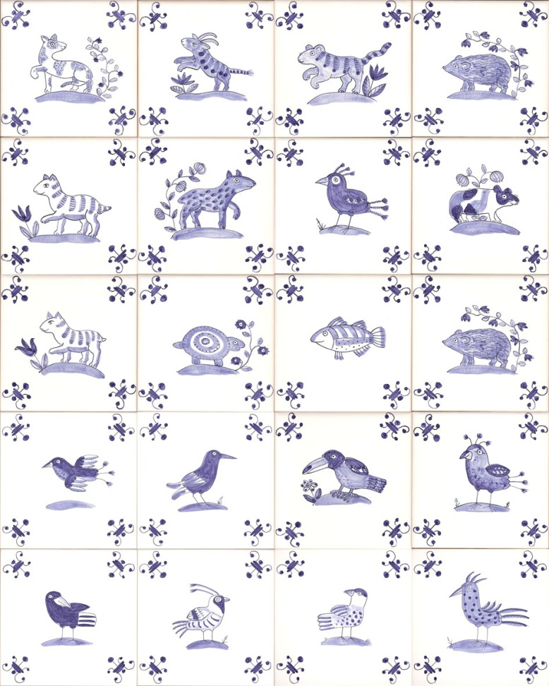 animal and bird tiles e