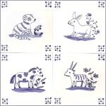 4 animal tiles