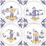 Four Chinoiserie figures
