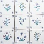 Delft flowerand bee tiles