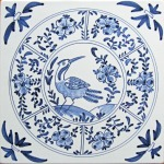 Chinoiserie bird tile